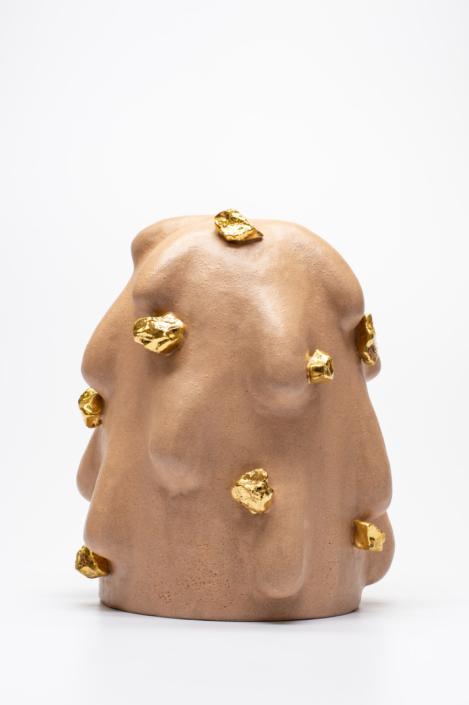 "Linda Lopez, Sand Nubby, 2019 Ceramic 12""h x 10"" w x 10""d"