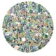 "Glenn Barkley, iknowitsjustnouse (Roundel), 2018 Earhtenware 60"" x 60"""
