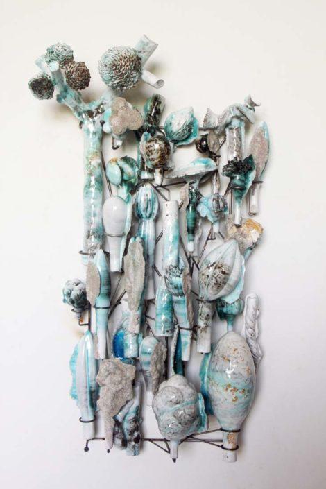 David Hicks. Panel Composition in Bluegreen, 2017