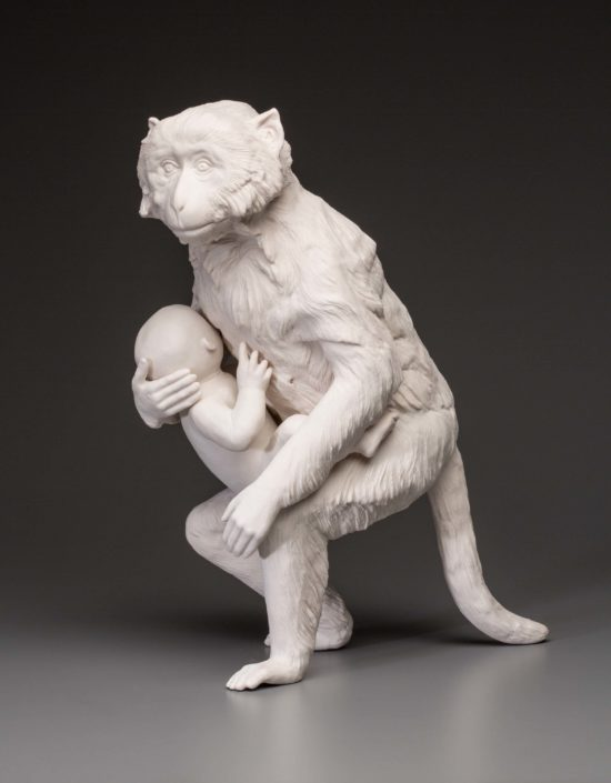 Kate MacDowell. Nursemaid 2, 2015. Hand-built porcelain. 18 x 13.5 x 10 in.