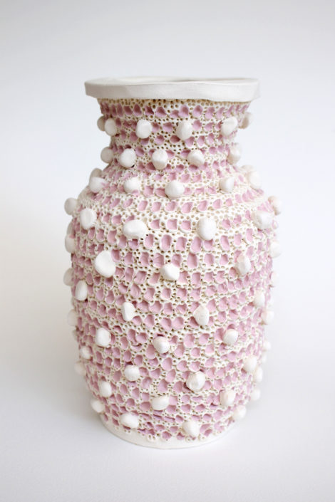 Glenn Barkley. Pinky Vase, 2018. Earthenware, 8.6 x 5.5 inches.