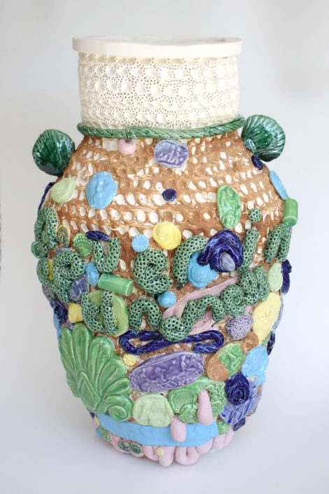 Glenn Barkley. nevereinthefieldofhumankindness large vessel for BC. Earthenware, 20 x 20 x 9.5 inches.