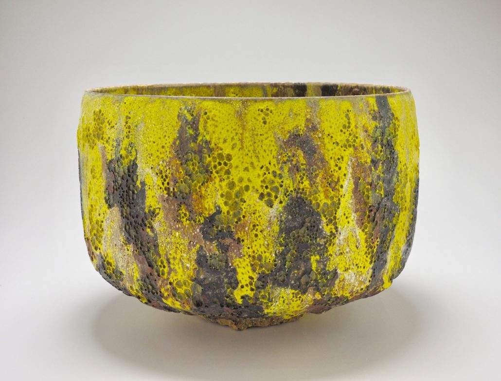"Jay Kvapil, Yellow and Black bowl, 2017 Ceramic 9.5"" x 13"" x 13"""