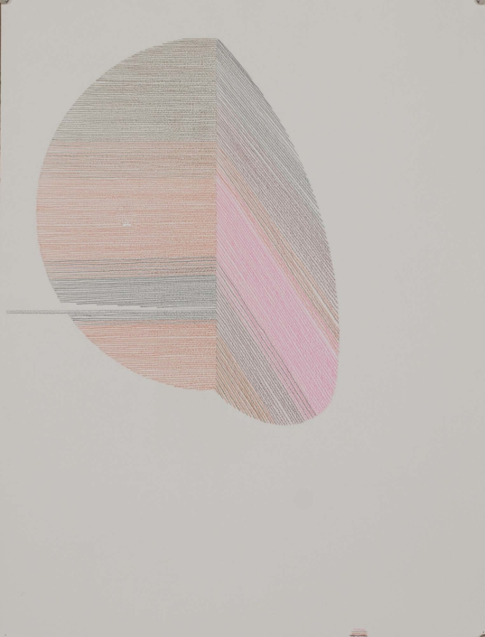 "Ernesto Garcia Sanchez, Untitled, 2018,Crayon on arches paper, 24"" x 16"""