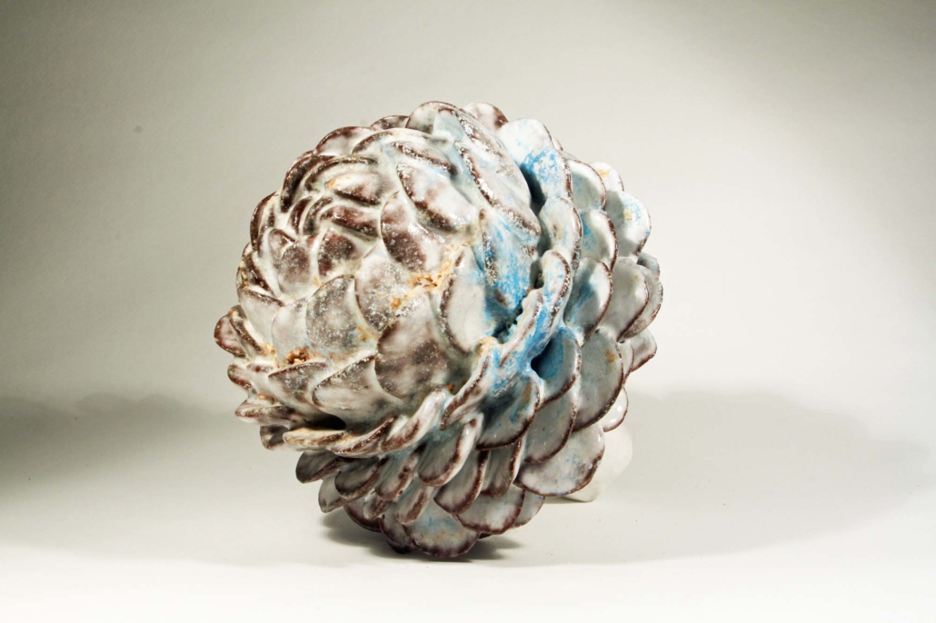 "David Hicks, Bloom Head, 2019, Ceramic, 8"" x 10"" x 9"""