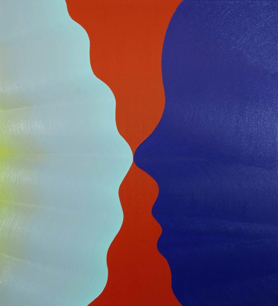 "Osamu Kobayashi Reflection, 2020 Oil on canvas 44"" x 40"""