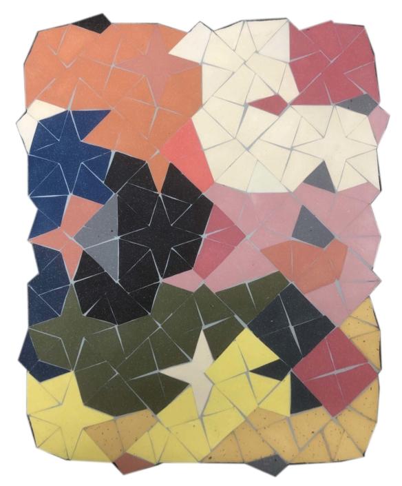 """Cody Hoyt Untitled, 2020 Stoneware, Porcelain, epoxy 16"""" x 19"""", Courtesy of Patrick Parish Gallery"""