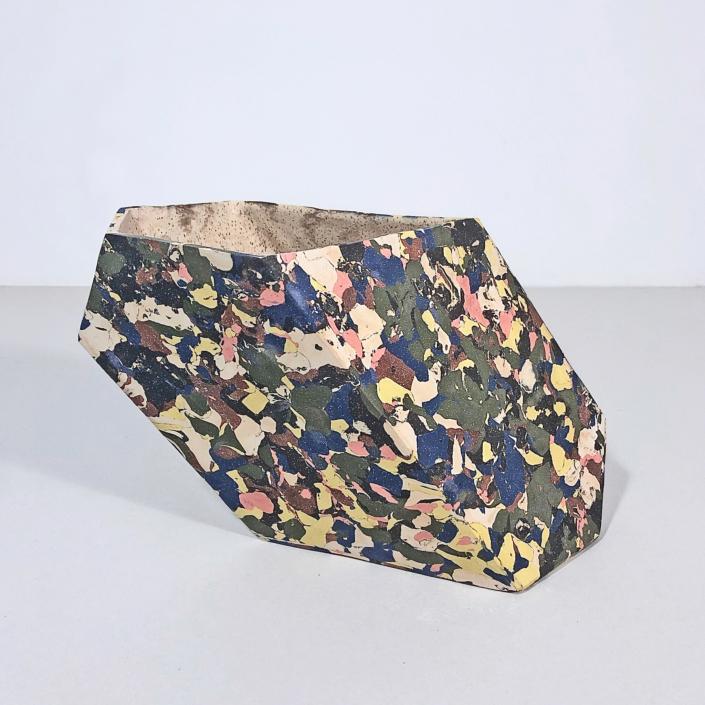 "Cody Hoyt Low Oblique Vessel, 2020 Ceramic 8"" x 13"" x 7"", Courtesy of Patrick Parish Gallery"