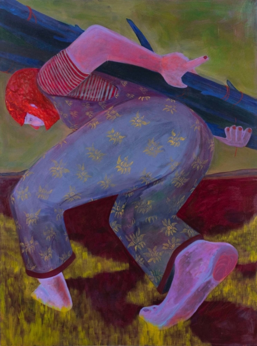 "Genevieve Cohn, Beauty of the Burden, 2020, Acrylic on canvas, 48"" x 36"""