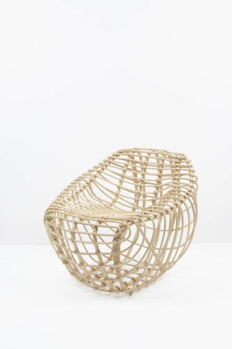 hettler.tüllmann, Rattan chair, 2014, Natural fiber, 30.75 x 33.5 x 33.5 in.