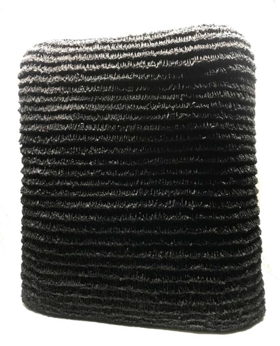 Donté Hayes, Basin, 2020, Stoneware, (black clay body), 18.25 x 17 x 7.5 in.