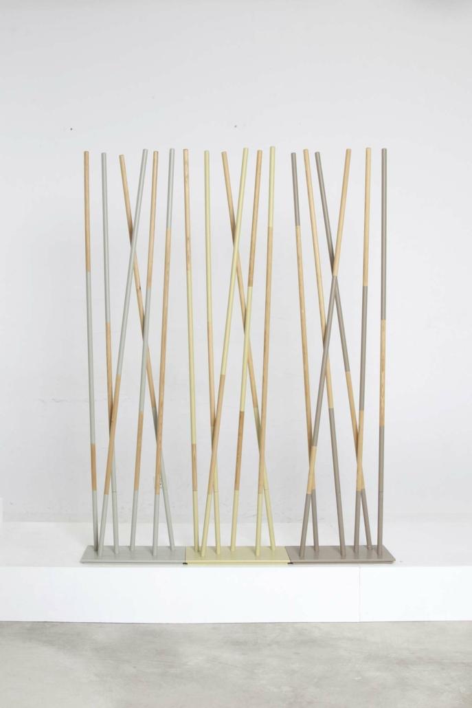hettler.tüllmann, Woods, 2015, Wood and powder coated steel, 70 x 9.75 x17.75 in.