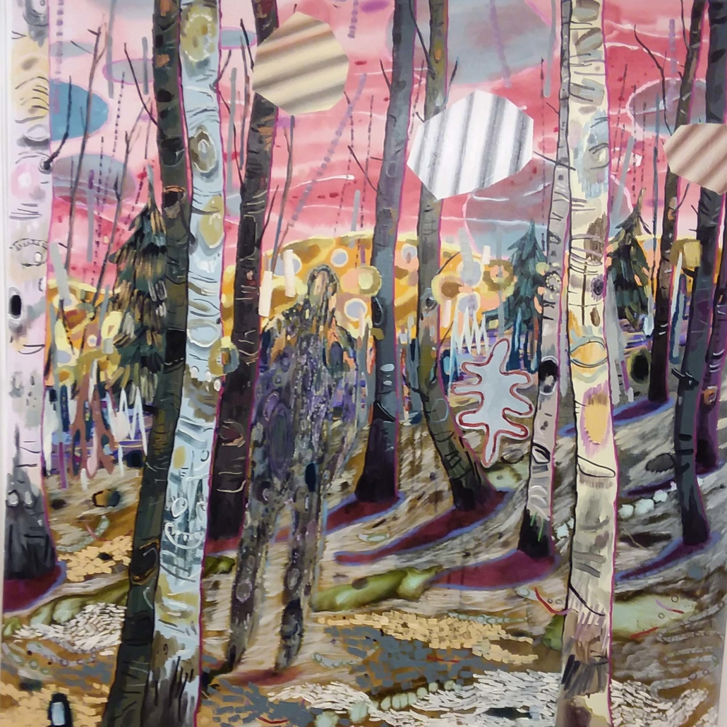 Melanie Daniel, Here Strolls the Pretender, 2019, oil on canvas, 127 x 127 cm