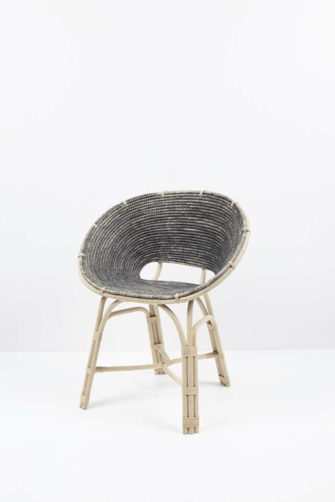 hettler.tüllmann, Loop chair, 2015, Wood and natural fiber, 30.75 x 19.75 x 21.25 in.