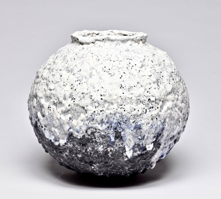 Jay Kvapil, #1433, Moon Jar, 2019, Ceramic, 14.5 x 17 in.