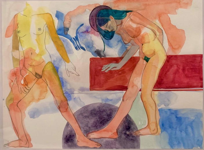 Nadia Waheed, Fatigue Drawing VIII, Mixed media on paper