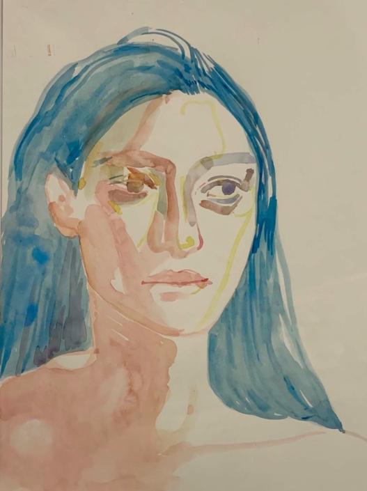 """Nadia Waheed, Fatigue Drawing II, 2020, Mixed media on paper, 9"""" x12"""""""
