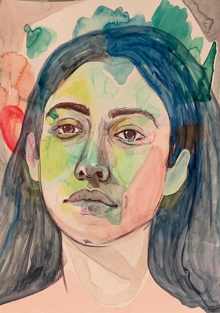 """Nadia Waheed, Fatigue Drawing XI, 2020, Mixed media on paper, 9"""" x 12"""""""