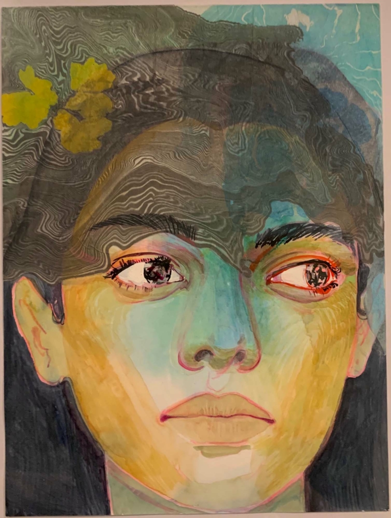 """Nadia Waheed, Fatigue Drawing I, 2020, Mixed media on paper, 9"""" x12"""""""