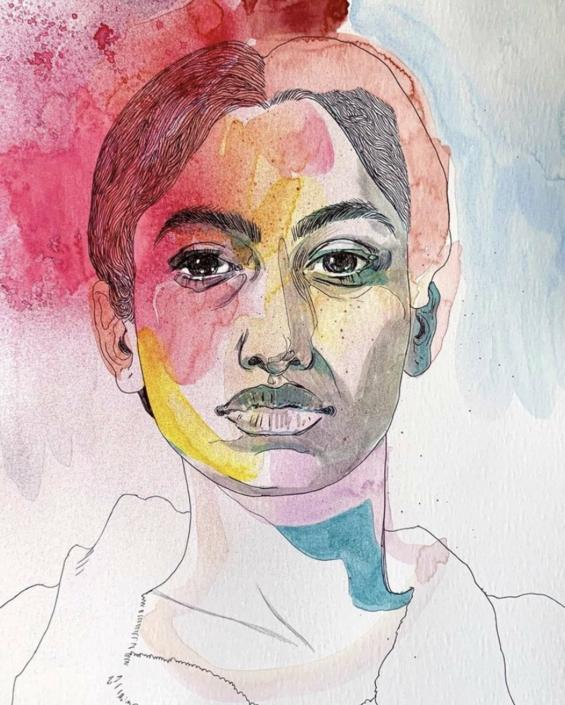 """Nadia Waheed, Fatigue Drawing X, 2020, Mixed media on paper, 9"""" x 12"""""""