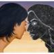 """Nadia Waheed, Nexus, 2020, Acrylic on canvas, 46"""" x 54"""""""