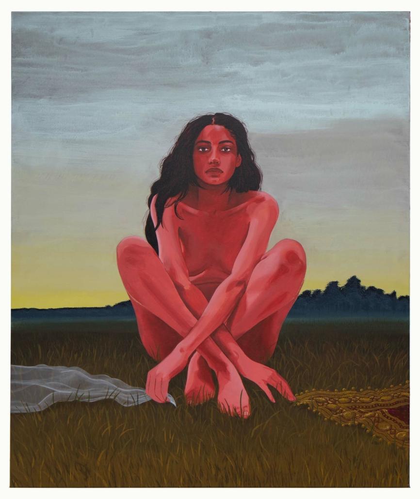 """Nadia Waheed, Paradox II (Choice), 2020, Acryiic on canvas, 58"""" x 48"""""""