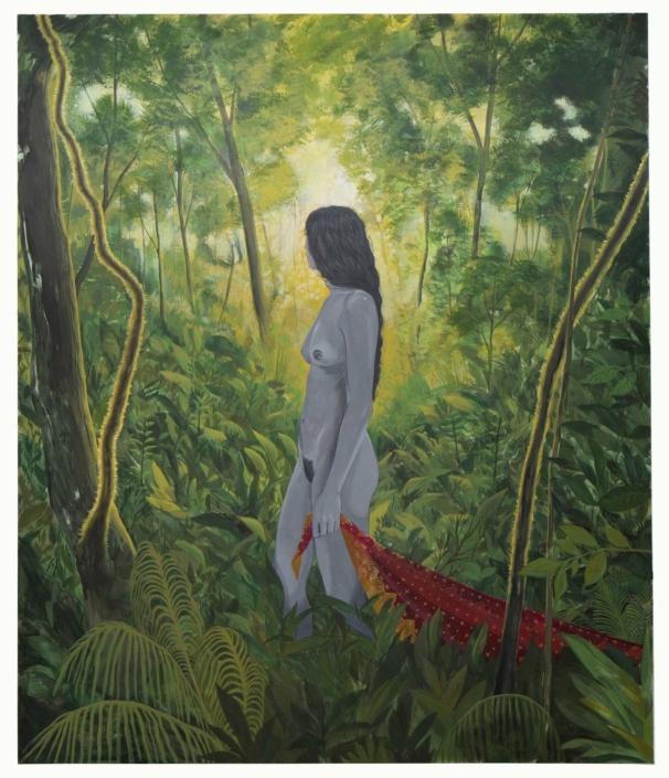 """Nadia Waheed, Sūnyatā, Kenosis, 2020, Acrylic on canvas, 66"""" x 78"""""""