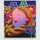 """Super Future Kid, Hazy Daisy, 2021, Acrylic and flashe on canvas, 23.5"""" x 27.5"""""""