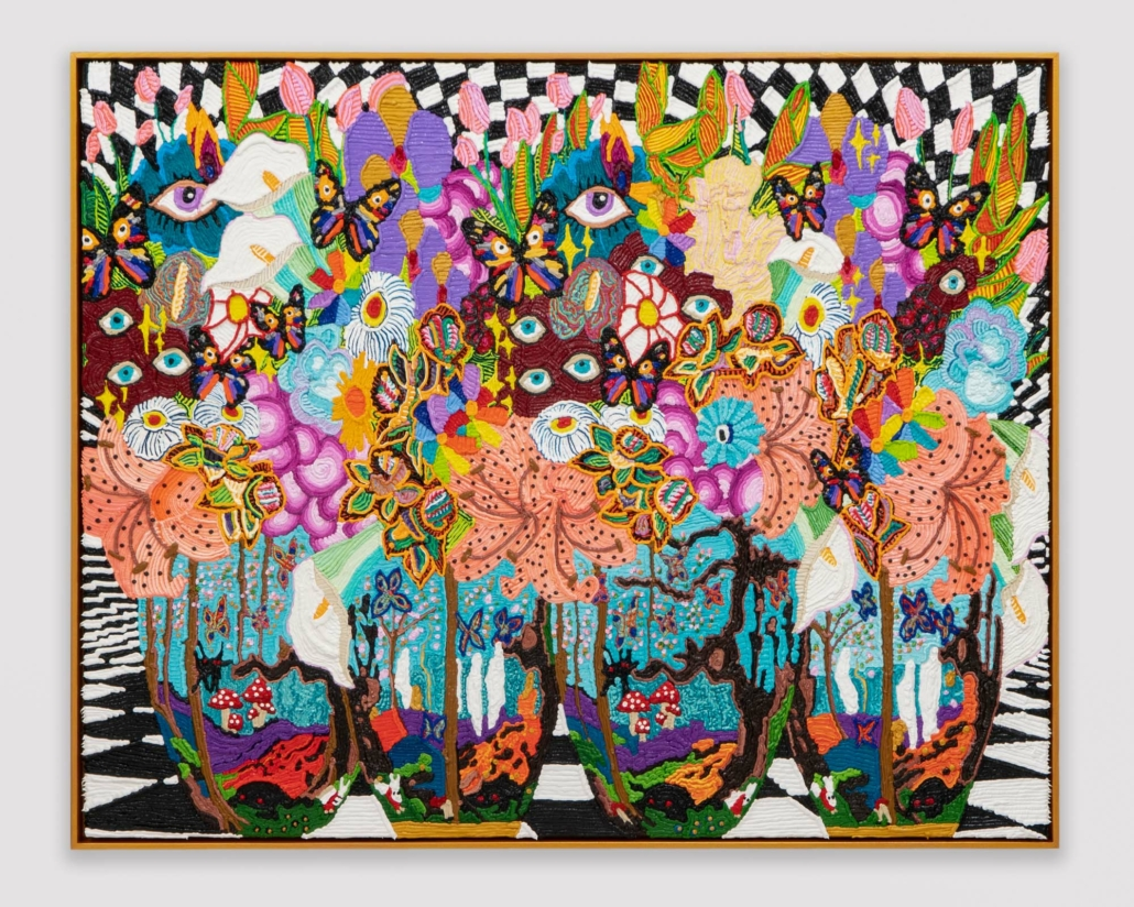 "Caroline Larsen, Daisy Makeig Jones Fairyland Luster Wedgwood, 2021, Oil on Canvas over panel, 40"" x 50"""