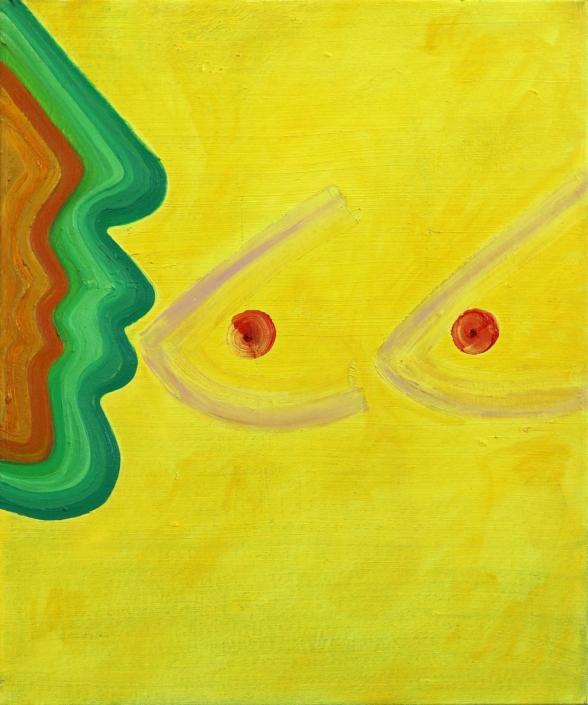 Shai Yehezkelli, Essence Painting, 2020, oil on canvas, 23.5 x 20.5